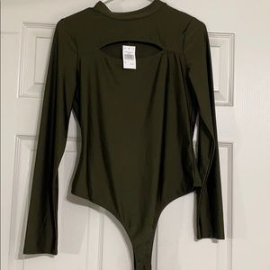 Metallic body suit